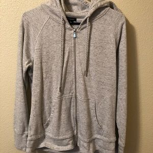CHAMPION Gray Zippered Hoodie Sweatshirt Full Zip